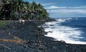 black sand beach hawaii file black sand beach big island hawaii 1959 jpg wikimedia commons