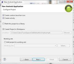 activity android android how to set default activity