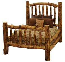 Log Bed Pictures by Giant Aspen Log Bed With Optional Foot Bench High Mountain Aspen