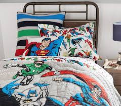 justice league quilt cover pottery barn kids