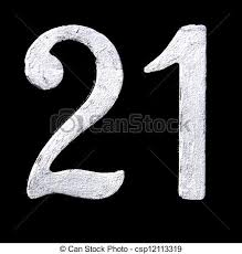 21 stock photography of number 21 handpainted raised and painted