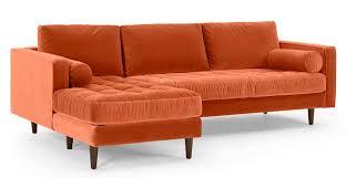 made canapé canapé d angle 4 places avec méridienne à gauche velours
