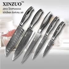 vg10 kitchen knives 5 pcs kitchen knives set 73 layers japanese vg10 damascus steel