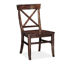 Leather And Wood Chair Aaron Wood Seat Chair Pottery Barn