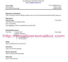 Experience Resume Templates Resume Template With No Work Experience 2017 Example High