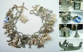 european silver charm bracelet images 69 best vintage travel charm bracelets images jpg