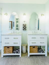 Stand Alone Vanity Two Single Vanities Were Used To Give The Owners A Double Vanity
