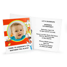 dr seuss 1st birthday personalized invitations birthdayexpress
