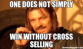 One Simply Does Not Meme - one does not simply win without cross selling meme one does not