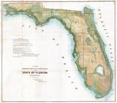 Map Of Fla File 1848 Land Survey Map Of Florida Geographicus Florida