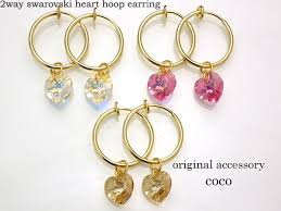 japan earrings original accessory coco rakuten global market 2way swarovski