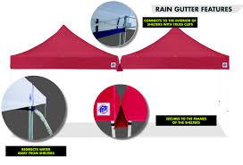 Ez Up Awnings Rain Gutters For E Z Up Shelters Van Raalte U0026 Co Inc