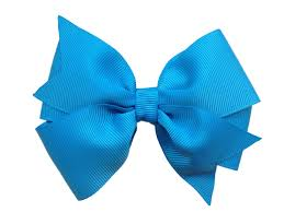 blue bows island blue hair bow blue hair bow turquoise bow 4 inch