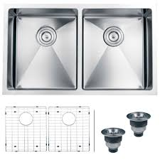 Double Bowl Stainless Steel Kitchen Sink Ruvati Rvh7401 Undermount 16 Gauge Kitchen Sink Double Bowl 32