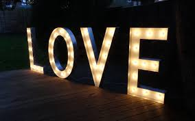 Hire Love Light Up Letters In Large Small Sizes Free Standing