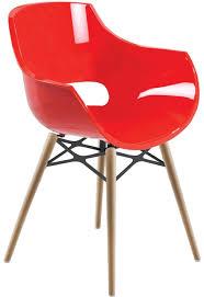 chaise visiteur bureau chaise bureau polycarbonate et bois pour visiteur réunion loft