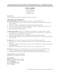 Photography Resumes Photography Resume Los Angeles Resume Template Info