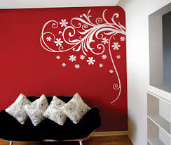 paint roses on wall in front cool floral wall decal in