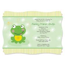 frog baby shower froggy frog personalized baby shower invitations
