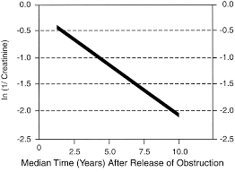 Serum Cr obstructive nephropathy in children term progression after