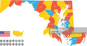 maryland map vector detailed vector map of maryland vector getty images
