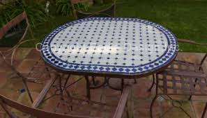 Moroccan Patio Furniture Moroccan Mosaic Oval Tile Table Moroccan Tiles Los Angeles
