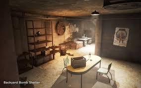 Backyard Bomb Shelter Basement Living Bunker And Basement Player Homes With