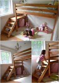 How To Build A Loft Bunk Bed With Stairs by Build A Bear Bunk Bed Foter