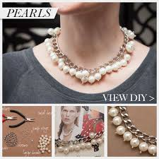 diy necklace chains images Large chain and pearl necklace diy jpg