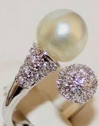 cincin lapis emas mutiara laut khas lombok cincin rodium model bola mutiara lapis