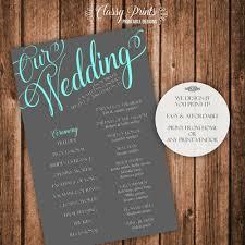 Rustic Wedding Program Template Wedding Programs Posh Pixel Designs Online Store Powered By