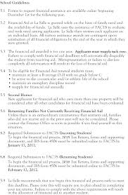 Letter Of Intent For Financial Assistance by La Salle High Financial Policies