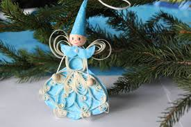 girdwood winter fairy paper quilled ornament christmas