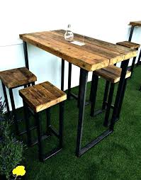 High Patio Dining Set High Top Dining Table Rustic High Top Dining Table Distressed