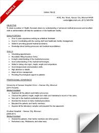 11 best medical assistant sample resume objective easy throughout