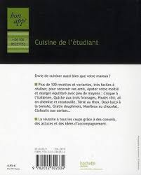 cuisine de l 騁udiant livre bon app cuisine de l etudiant adulte