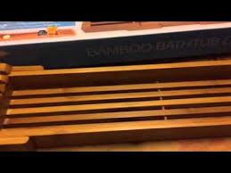 adjustable bathtub caddy adjustable bambook bathtub caddy youtube