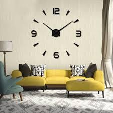 3d wall clock large 3d wall clock