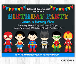 superhero invitation superhero birthday invitation por kidzparty