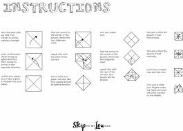 printable paper fortune teller to keep the busy at your wedding