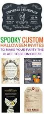 halloween birthday invites totally spooky custom halloween invitations to make your party