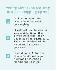 what to put on bridal registry fund macy s