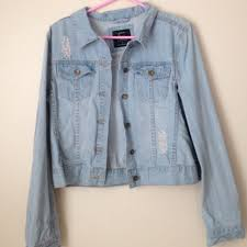 light distressed denim jacket cotton on jackets blazers light distressed denim jacket poshmark