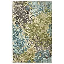 Aqua Area Rug Mohawk Home Radiance Abstract Floral Printed