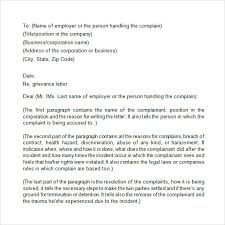 grievance letter to employer template 15 employee complaint letter