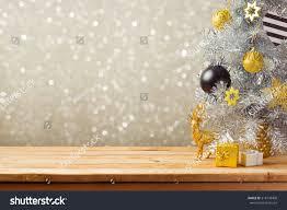 christmas holiday background christmas tree decorations stock