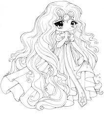princess emeraude chibi draw coloring page netart