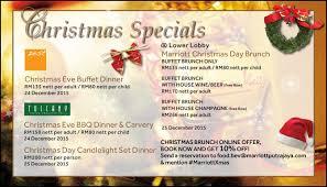 christmas specials putrajaya marriott dining
