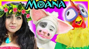 Halloween Costumes Moana Hei Hei Pua Makeover Makeup Tutorial Disney