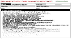 Security Officer Responsibilities Resume Transportation Security Officer Tso Job Descriptions